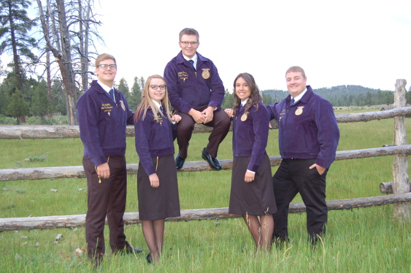 2015-2016 Nevada State FFA Officers