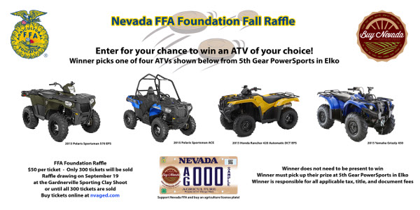 Nevada FFA Foundation Fall Raffle